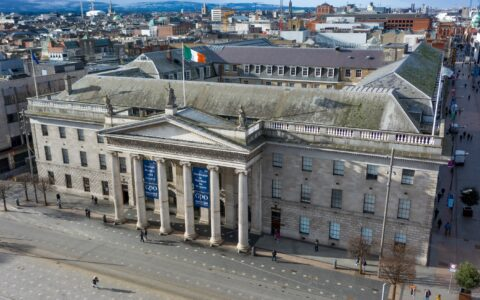 Aerial view of the General Post Office (GPO) in Dublin - © Irish Drone Photography