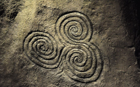 A triskell in Newgrange - young shanahan - cc