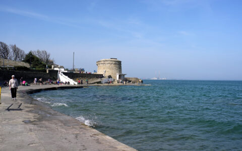 Seapoint and its Martello tower - briantf - cc