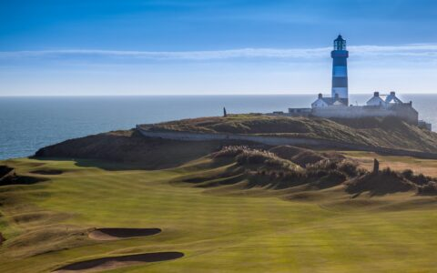 The Old Head Lighthouse and its golf course - © Hugh O'Connor