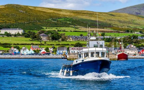 Dingle and a fishing boat - © Dawid