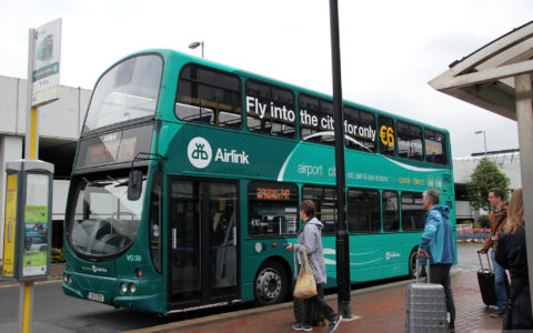 An Airlink bus in Dublin Airport - Canadian Pacific - cc