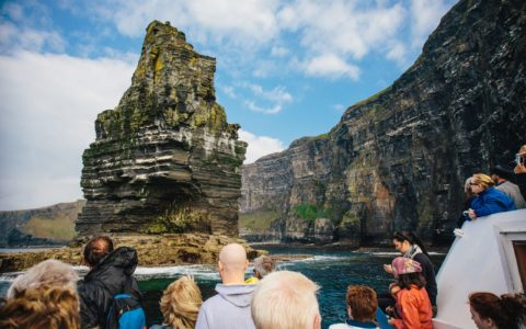 The Cliffs of Moher seen from the boat - Simon Crowe