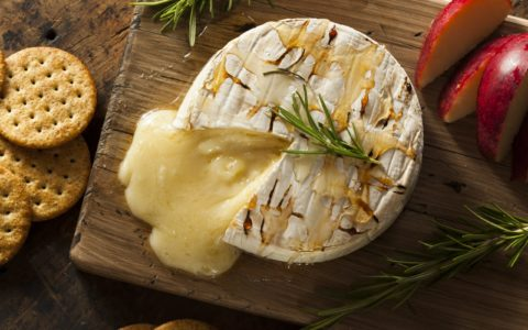 A baked Ballyoak Brie with honey - bhofack2