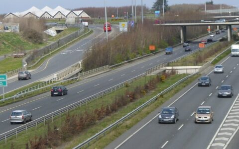 The M50 road in the Republic of Ireland