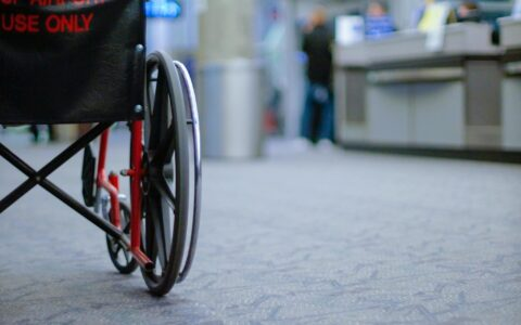 A wheelchair in an Irish airport - Jenya Kushnir - cc