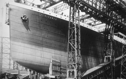 The construction of the Titanic in Belfast