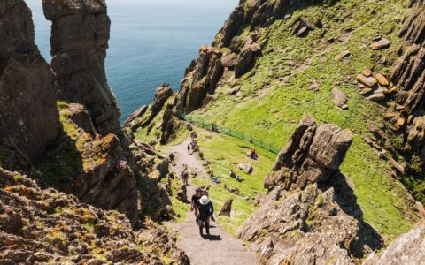 The steps of Skellig Michael are rather steep! shutterupeire