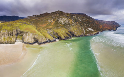 Aerial view of Maghera Beach and Caves - 123rf