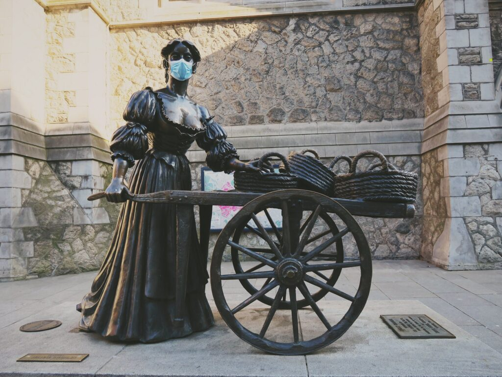 Molly Malone in Dublin is also masked - Cityswift - cc
