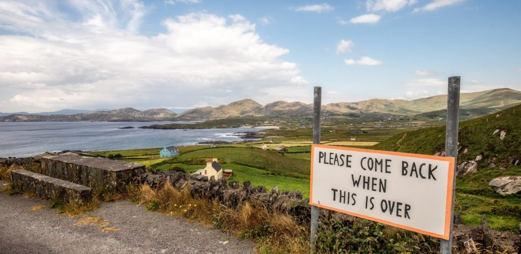 View of Allihies, on the Beara Peninsula, where the Irish are asking tourists to return at the end of the pandemic - © Fabiano